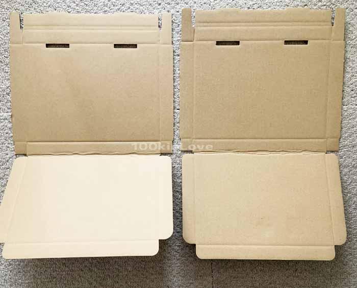 セリアのネコポスとゆうパケットの箱